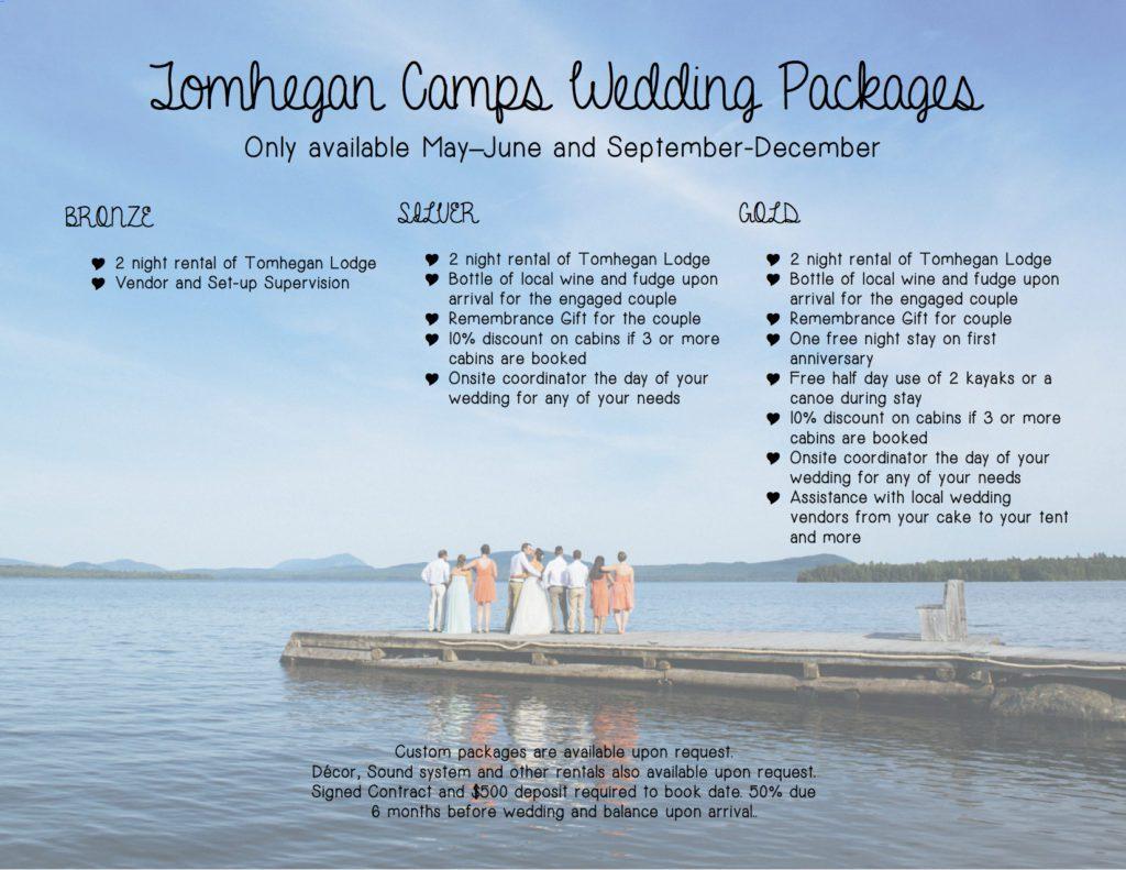 Tomhegan Wedding Packages